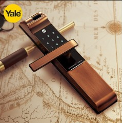 Yale 耶鲁指纹锁密码锁门锁 防盗门指纹 进口智能门锁YDM4116