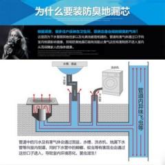 邦哥地漏用防臭芯新型硅胶V型芯 可替换T型地漏芯翻板芯