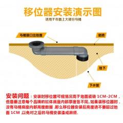 加厚坐便器抽水马桶下水管道可调长度延长PVC扁管加长移位位移器